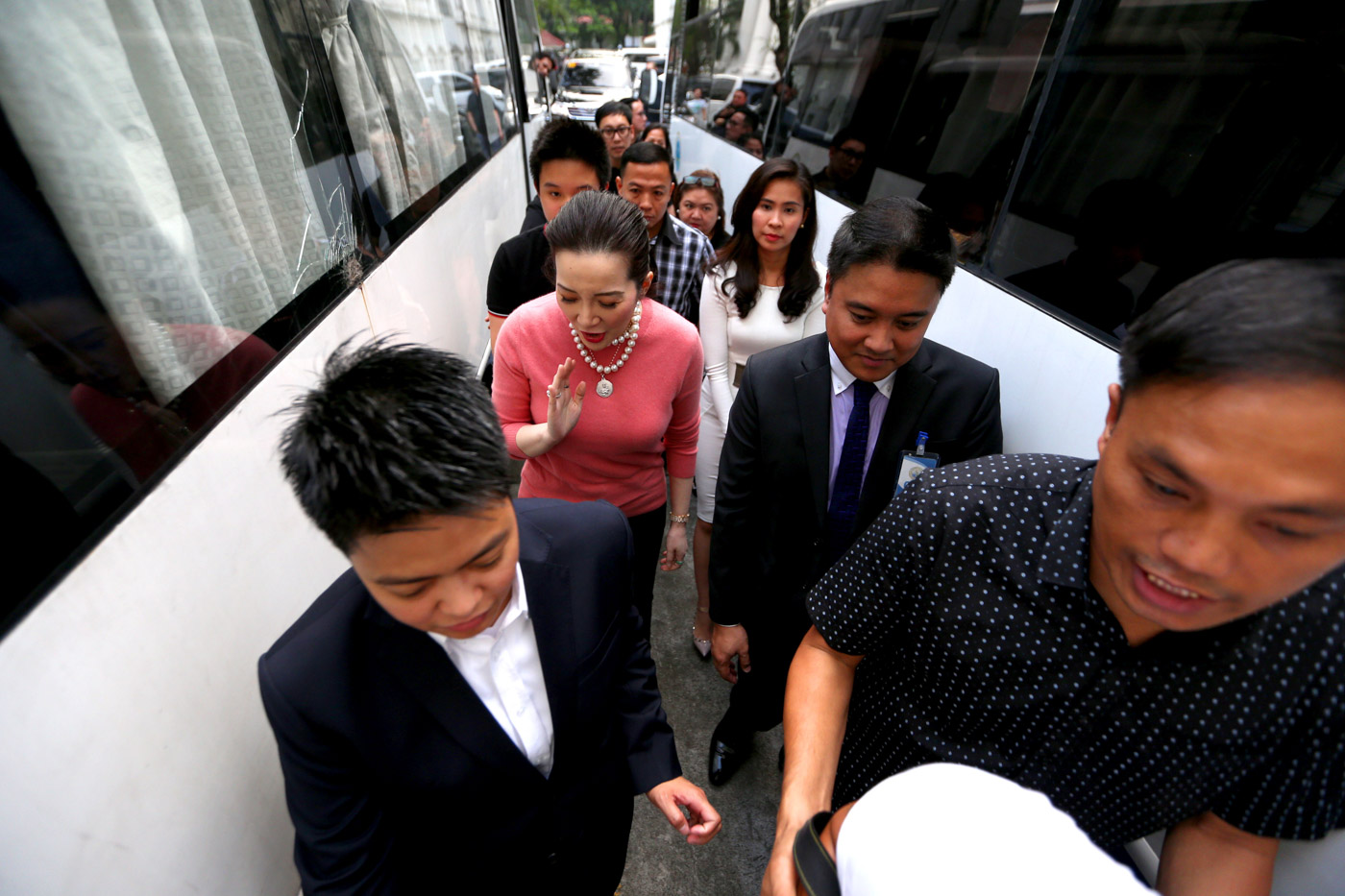 MORE CASES. Kris Aquino arrives at the Department of Justice to file cyber libel charges against lawyer Jesus Falcis on November 22, 2018. Photo by Inoue Jaena/Rappler