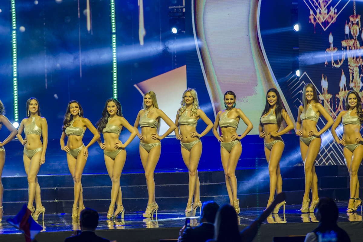 POWER OF BEAUTY. The candidates in their swimsuits.