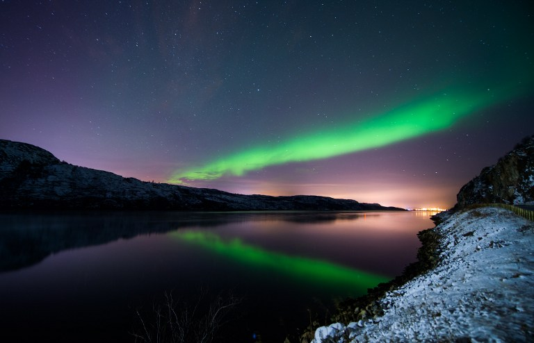 DARKNESS ONCE AGAIN. This file photo taken on November 12, 2015 shows the Aurora Borealis or Northern Lights illuminating the night sky near the town of Kirkenes in northern Norway. File photo by Jonathan Nackstrand/AFP