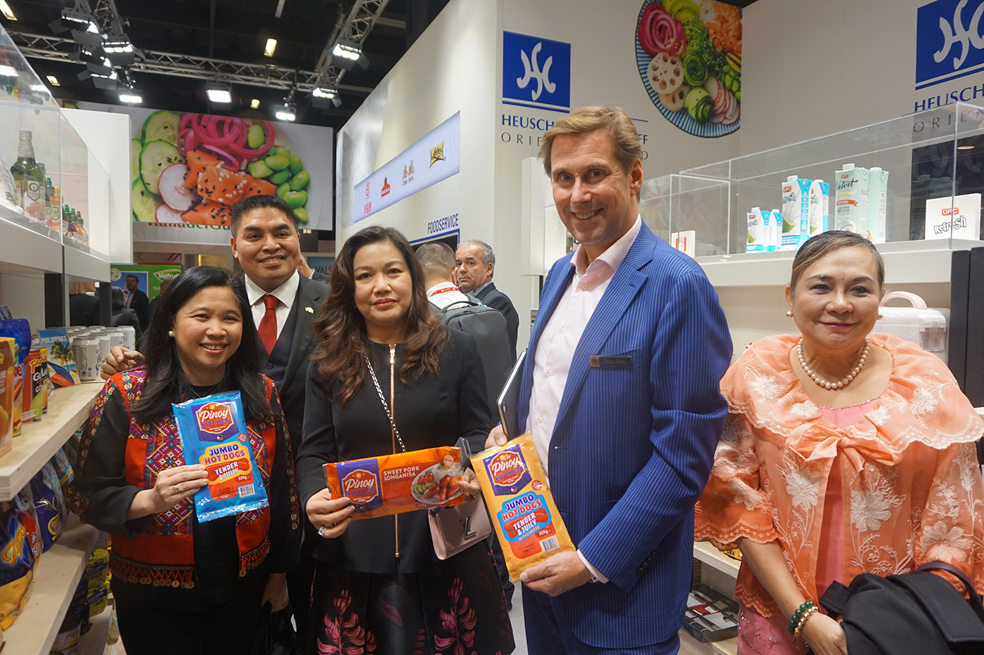 PITCH FOR PH PRODUCTS. Philippine officials and President Rodrigo Duterte's partner Honeylet Avanceu00f1a with Marc Boits of importer Heuschen u0026 Schrouff,  at the Heuschen u0026 Schrouff booth, one of the biggest importers of Asian food to Europe. Photo by Carol Ramoran/Rappler