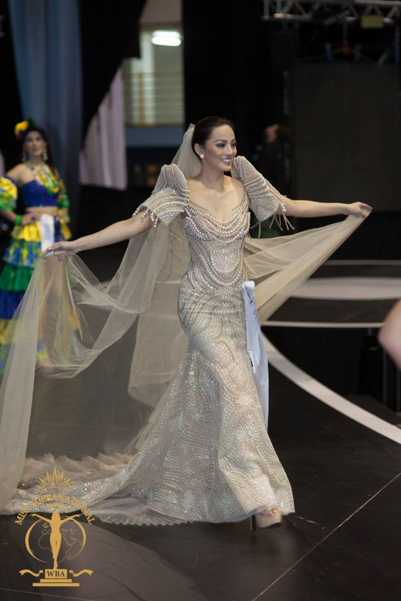 PROUD CEBUANA. Bb Pilipinas Supranational 2015 Rogelie Catacutan wears a Philipp Tamppus creation at the Miss Supranational 2015 pageant in Poland. Photo from Facebook/Miss Supranational