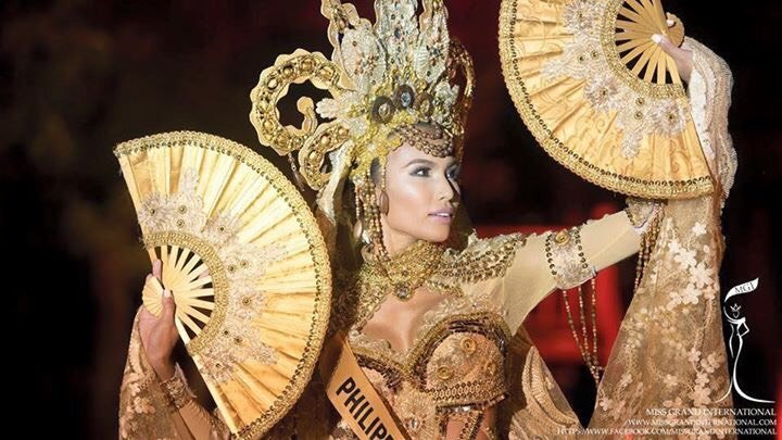 BEST COSTUME. Parul Shah models her Muslim-inspired costume by Edwin Uy at the Miss Grand International pageant in Thailand. Photo from Facebook/ Miss Grand International