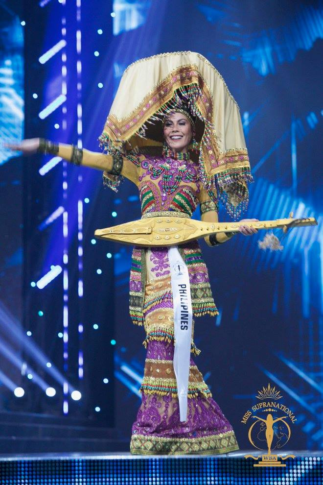 MINDANAO TRIBUTE. Chanel Olive Thomas in her Tboli-inspired national costume at the Miss Supranational 2017 pageant. Photo from Facebook/Miss Supranational