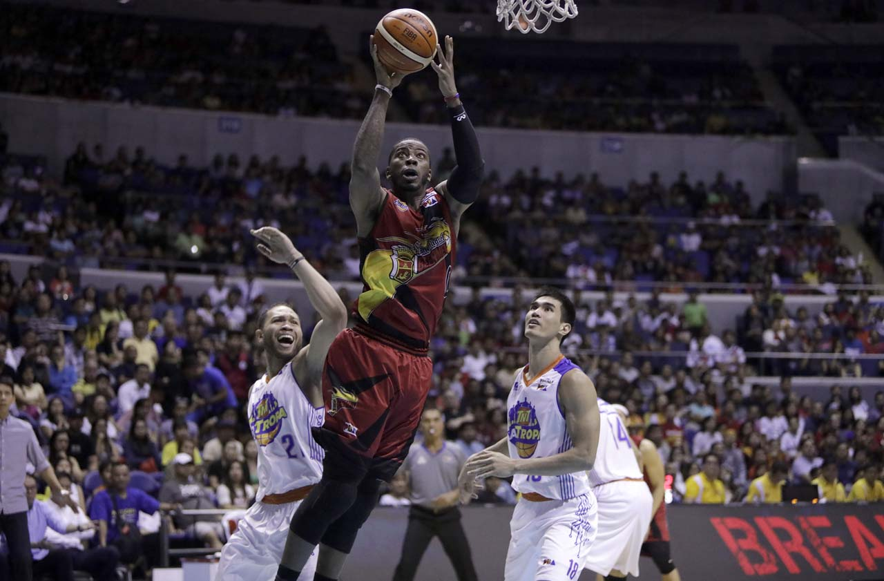 BEST IMPORT. Charles Rhodes topscores for the Beermen in Game 6 with 30 points. Photo from PBA Images