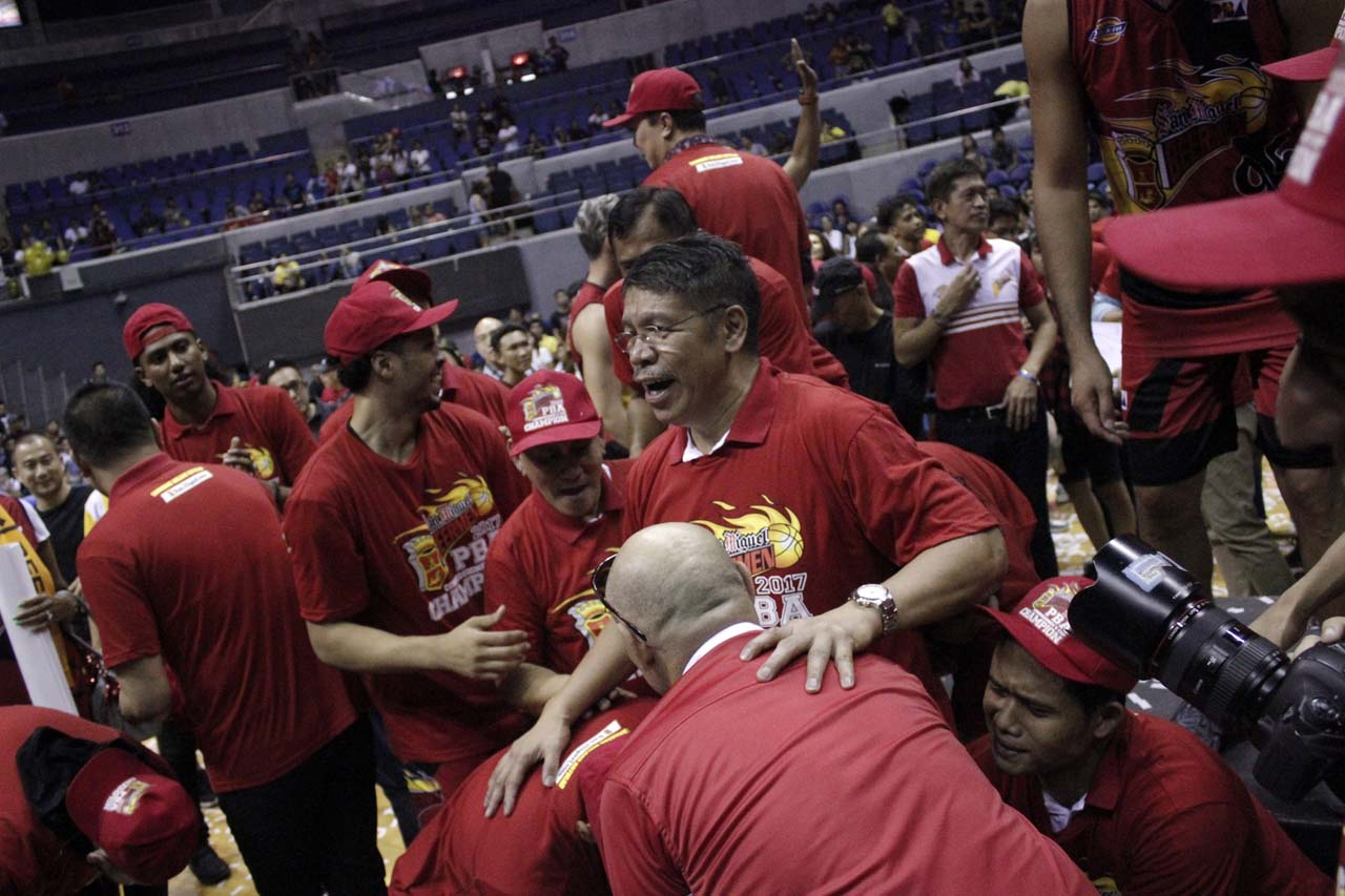 DOMINANCE. Coach Leo Austria has led the Beermen to 5 championships in the last 8 conferences. Photo from PBA Images
