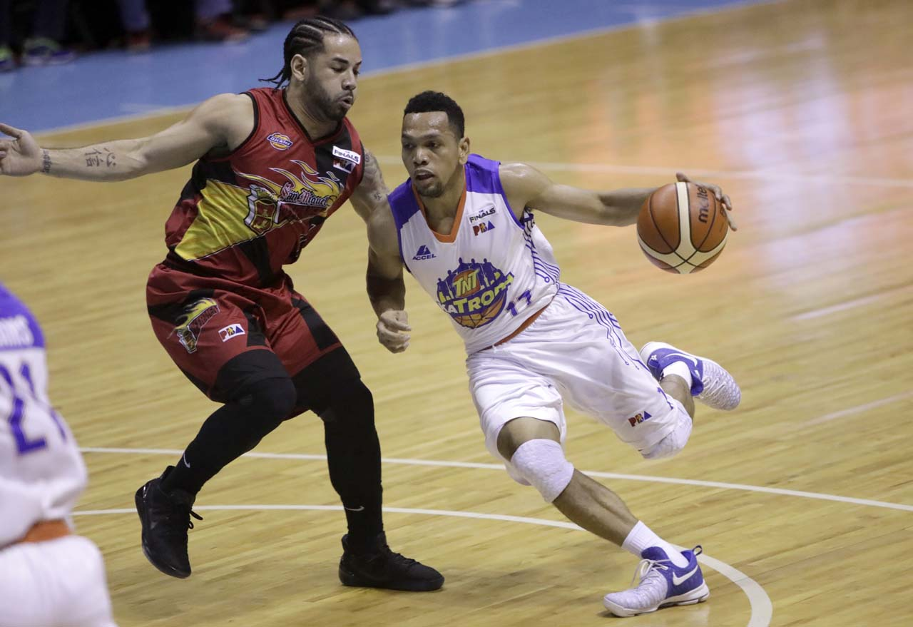QUIET JAYSON. Jayson Castro was neutralized in Game 6 with just 13 points and two assists. Photo from PBA Images