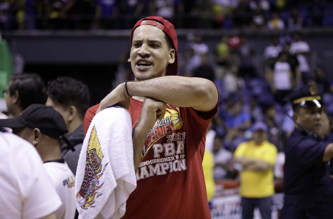 HOT HAND. Marcio Lassiter is the second leading scorer for San Miguel in Game 6 with his 24 points on 5 triples. Photo from PBA Images