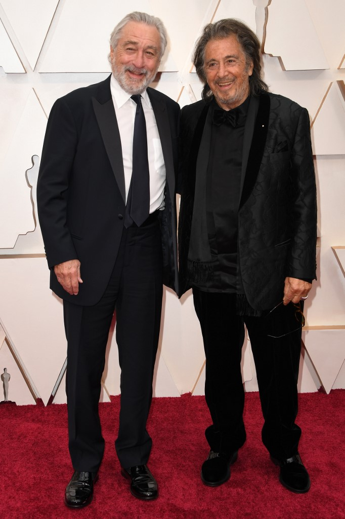US actors Robert De Niro (L) and Al Pacino arrive for the 92nd Oscars at the Dolby Theatre in Hollywood, California on February 9, 2020. Photo by Robyn Beck / AFP