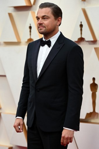 US actor Leonardo DiCaprio arrives for the 92nd Oscars at the Dolby Theatre in Hollywood, California on February 9, 2020. Photo by Robyn Beck / AFP