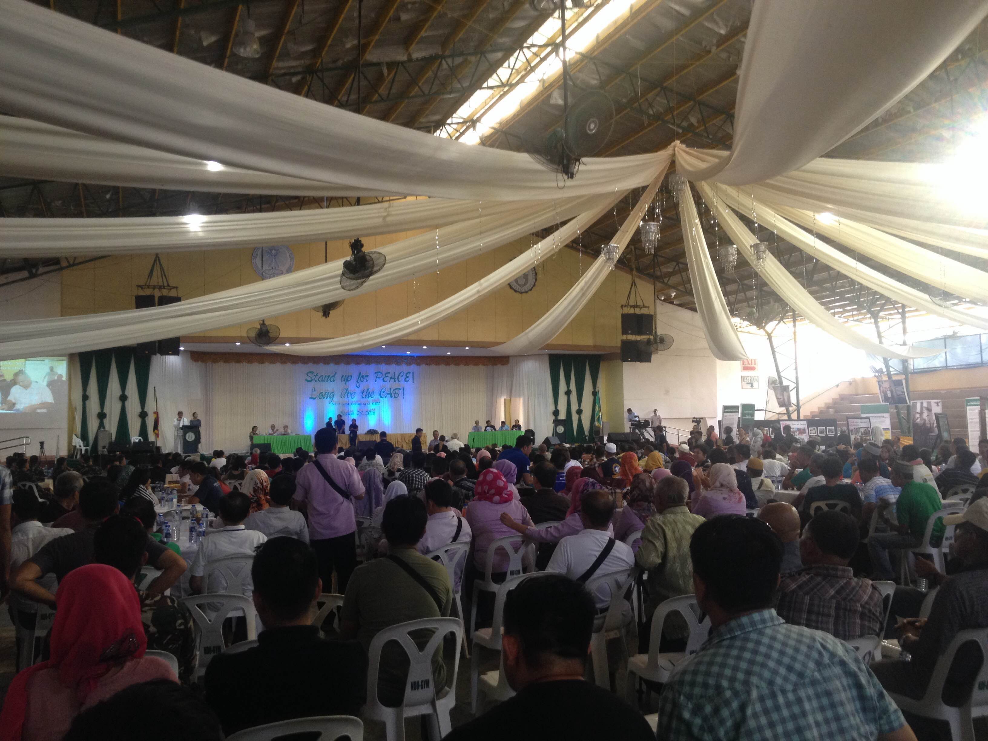 CELEBRATING PEACE. Various groups attend the 2nd anniversary of the signing of the Comprehensive Agreement on the Bangsamoro in Cotabato City. Photo by Jodesz Gavilan/Rappler
