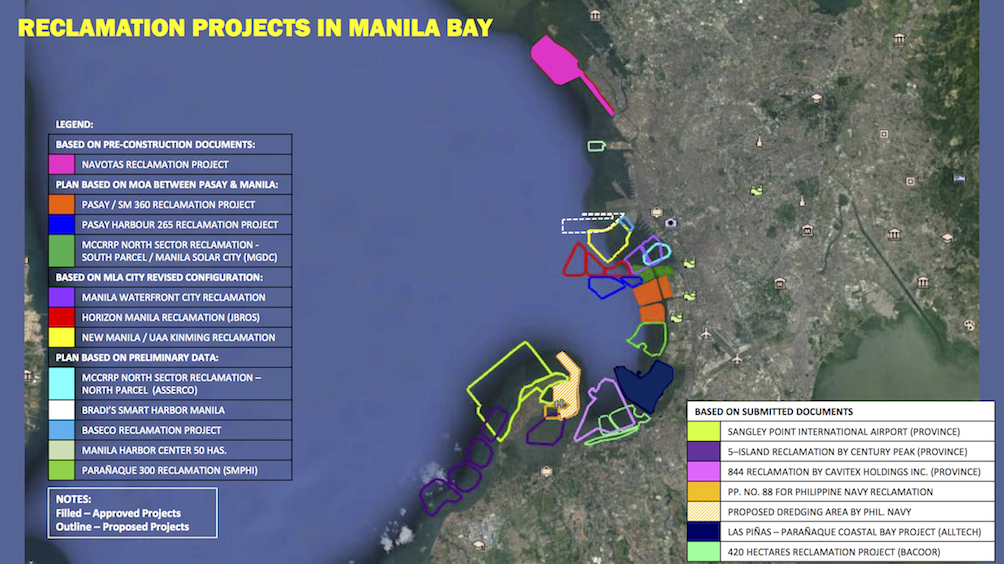 Map from the Philippine Reclamation Authority