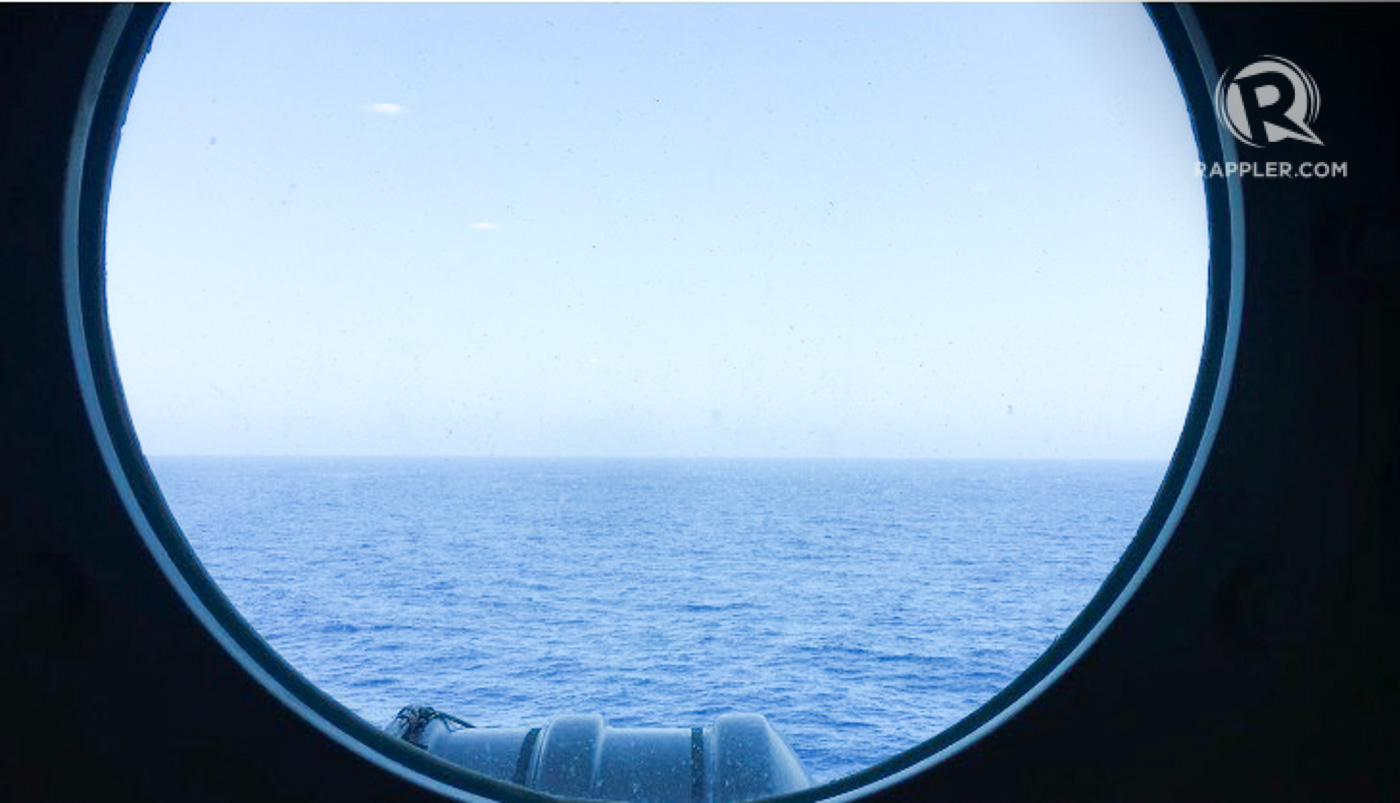 DISPUTED WATERS. View of the South China Sea from inside the USS Carl Vinson. Photo by Camille Elemia/Rappler