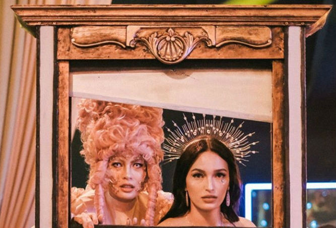 OPULENCE. Isabelle Daza and Sarah Lahbati in their costumes for Opulence:Let Them Eat Cake! party at Solaire. Screenshot from Isabelle Daza's Instagram