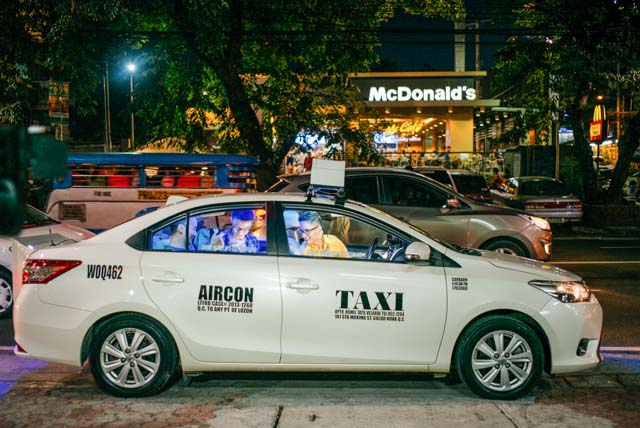 The cab Ryan will use for the show. Photo courtesy of AXN