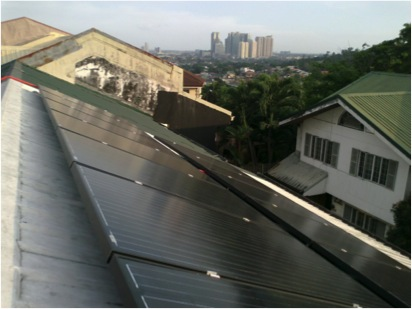 SOLAR SOLUTION. A QC home using the black series type of solar panels.