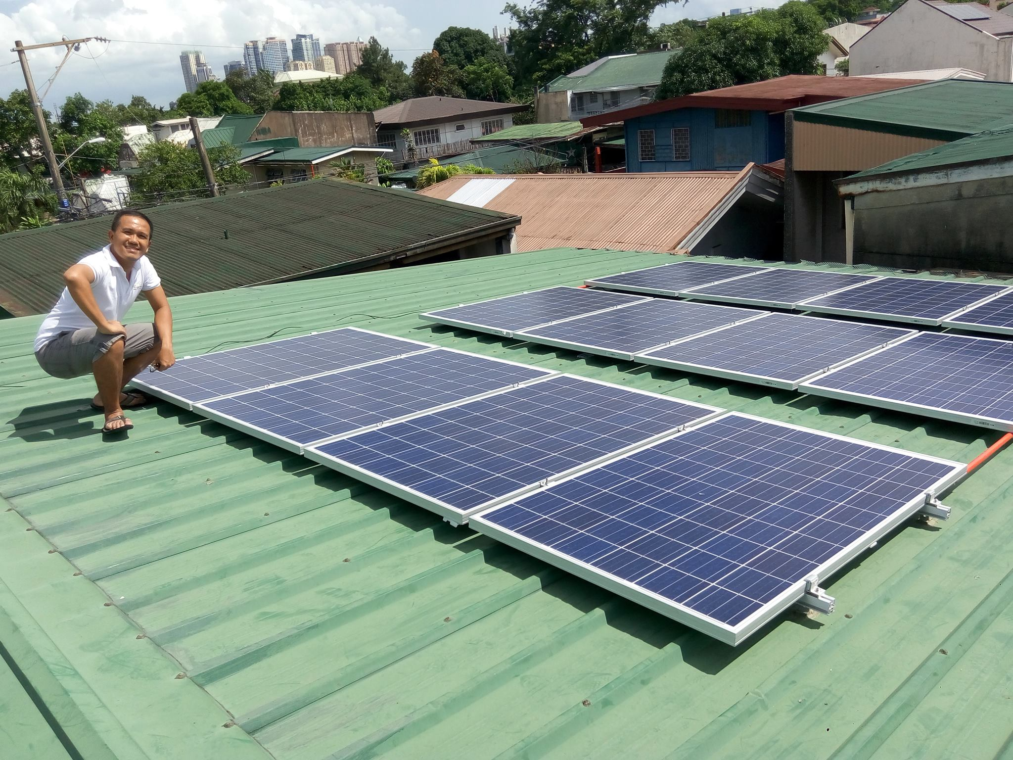 TOP SOLUTIONS. Aison Garcia, co-founder of Solar Solutions and renewable energy advocate