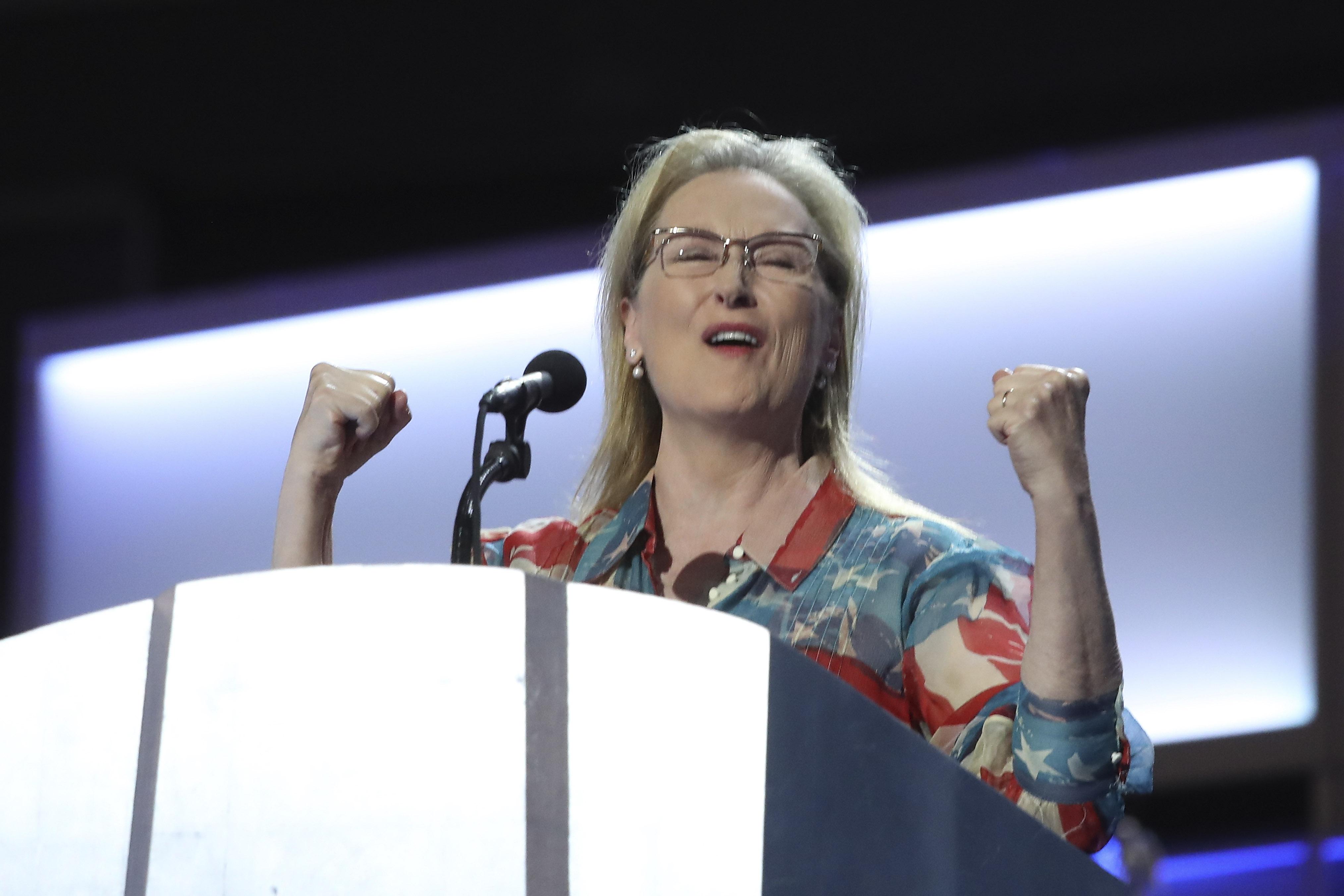 Meryl Streep. Photo by Andrew Gombert/EPA