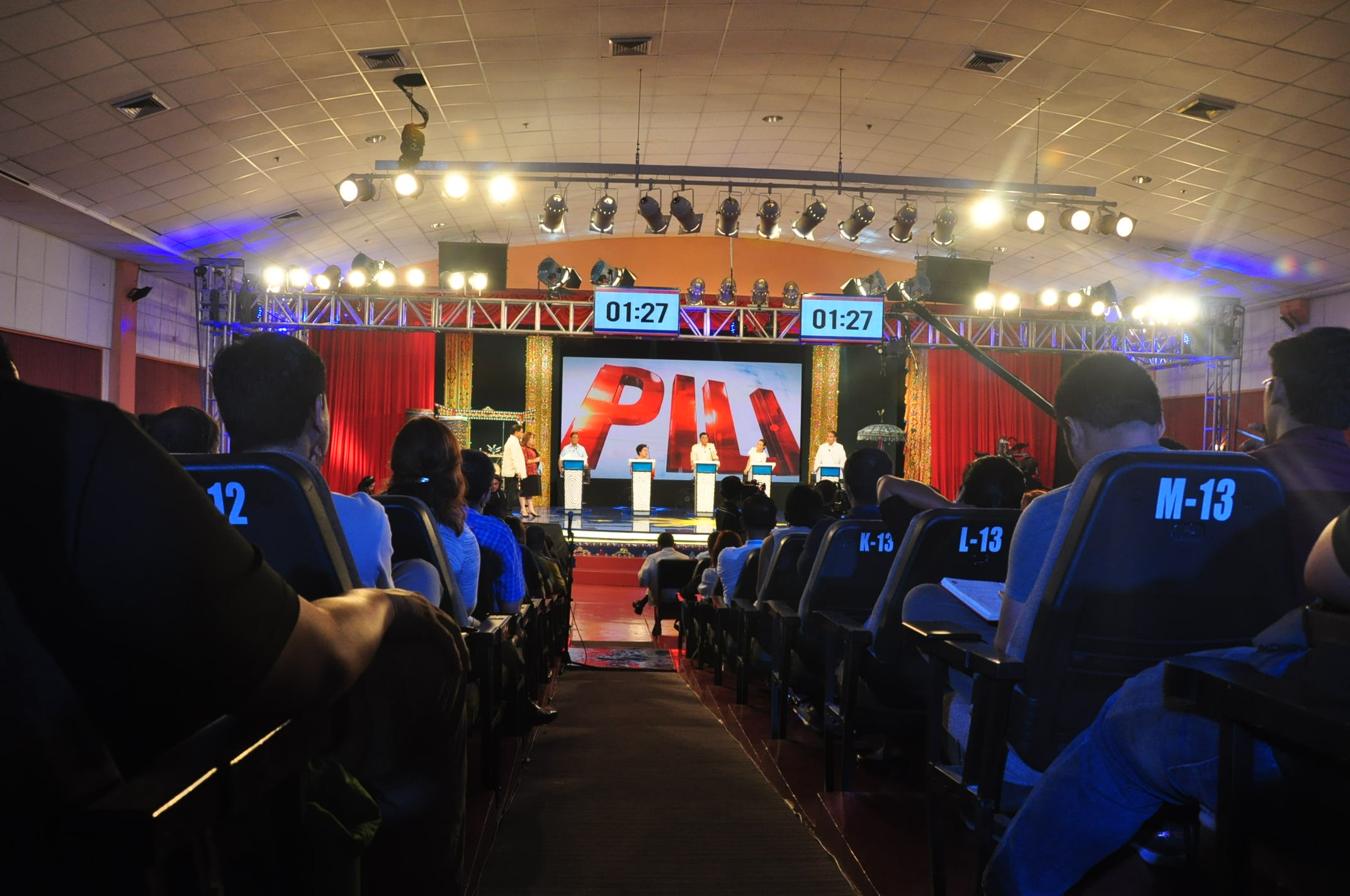 AUDIENCE'S VIEW. A scene from the PiliPinas Debates in Cagayan de Oro City, February 21, 2016. Courtesy COMELEC EID