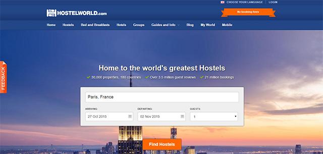 Screengrab from hostelworld.com