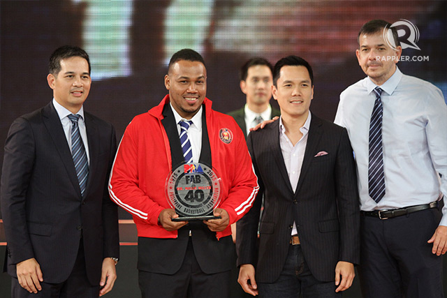 Flashing his usual smile, two-time MVP Willie 'The Thriller' Miller formally takes his place among the league's best-ever cagers. Photo by Josh Albelda/Rappler