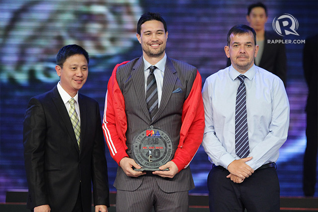 The first MVP of the Ginebra franchise Eric 'Major Pain' Menk is also one of the latest additions to the PBA Greatest Players list. Photo by Josh Albelda/Rappler