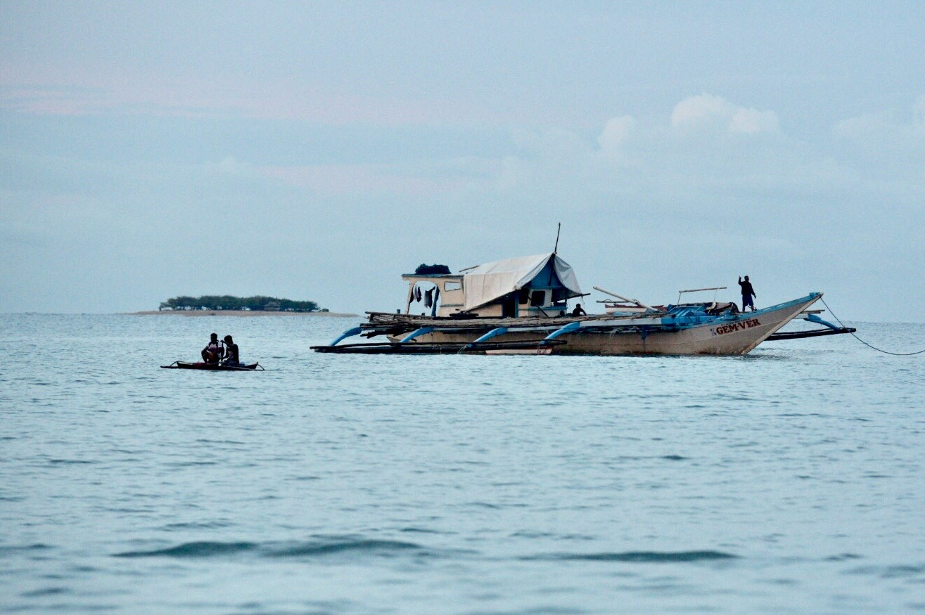 BETTER CONDITION. The F/B Gem-Ver at the shores of Brgy. San Roque II, San Jose Occidental Mindoro on June 15, 2019, after it was salvage near the Reed (Recto) Bank following its sinking by a Chinese vessel on June 9. Photo by LeAnne Jazul/Rappler
