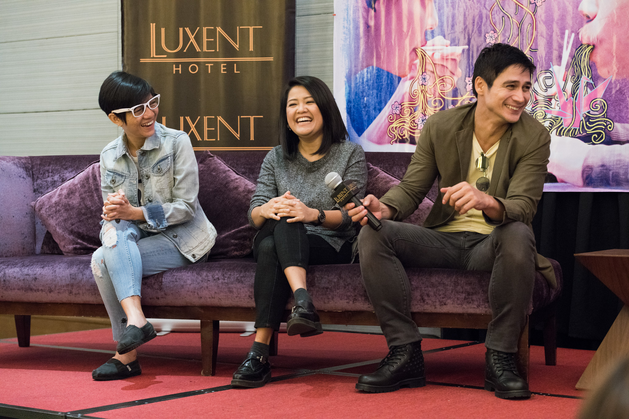 ANTI-PIRACY. Director Sigrid Andrea Bernardo and producer Piolo Pascual, pictured here with producer Joyce Bernal at the film's presscon, have spoken against sharing and uploading the film online. Photo by Martin San Diego/Rappler