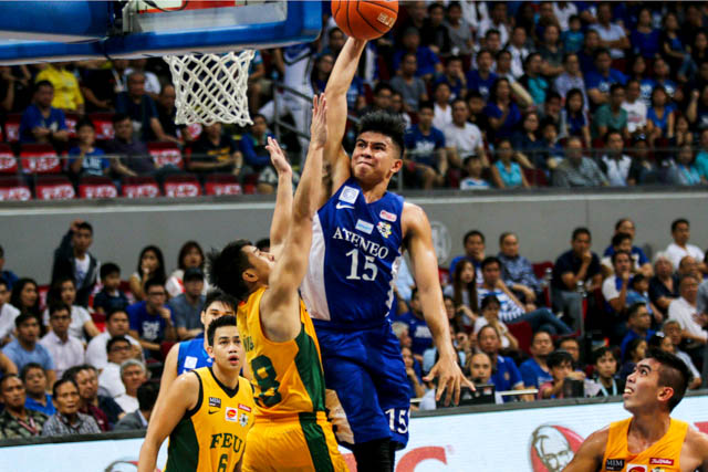 DUNK IT. Kiefer Ravena attempts a poster slam against FEU in their first-round game. Photo by Josh Albelda/Rappler