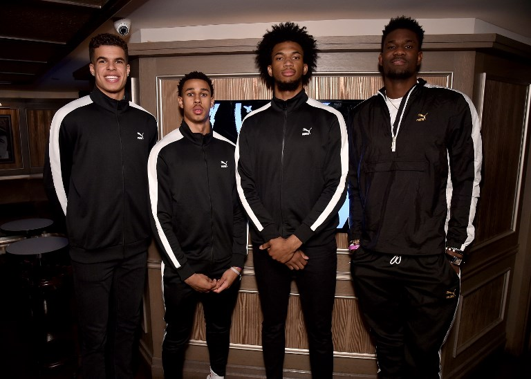 TOP PICKS. Expected to go high in this year's NBA Draft are (from left) Michael Porter, Jr, Zhaire Smith, Marvin Bagley III, and Deandre Ayton. Photo by Bryan Bedder/Getty Images for PUMA/AFP