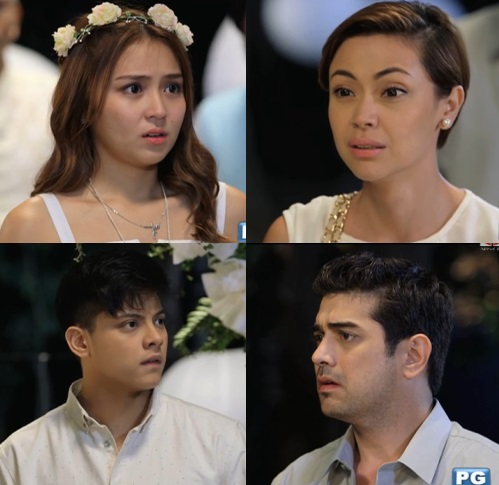 MARIA AMOR. Amor (Jodi Sta Maria) tells Yna (Kathryn Bernardo) that she is her missing daughter with Eduardo (Ian Veneracion). photo courtesy of ABS-CBN