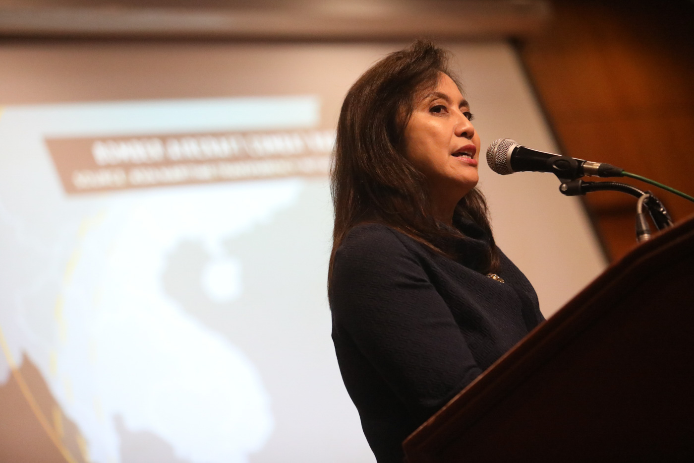 NOT THE TIME? Vice President Leni Robredo says it is 'untimely' to change the Constitution in the face of more pressing concerns. File photo courtesy of OVP