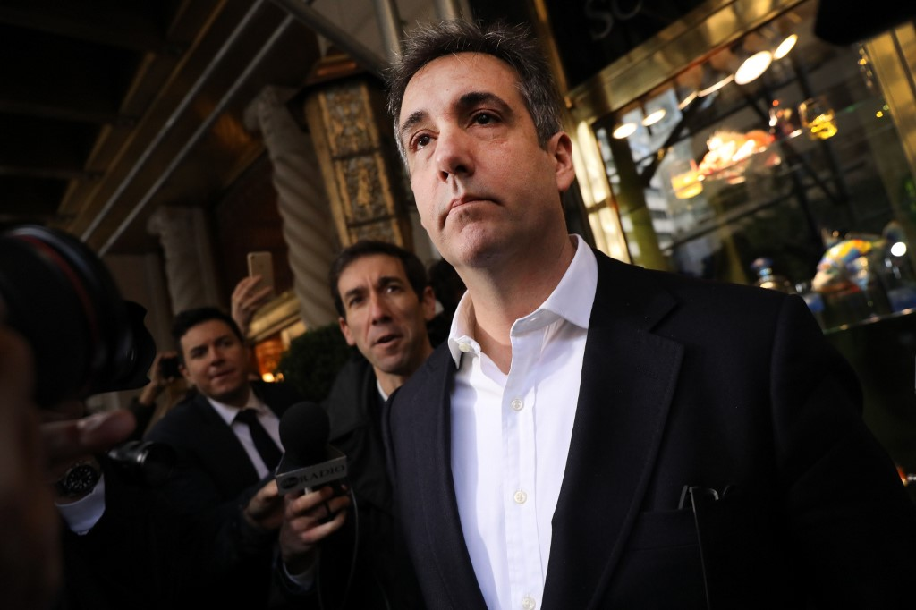 OFF TO JAIL. Michael Cohen, the former personal attorney to President Donald Trump, departs his Manhattan apartment for prison on May 6, 2019 in New York City. Photo by Spencer Platt/Getty Images/AFP