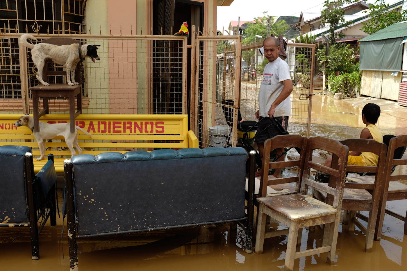 NOTHING SPARED. Even those supposedly on higher ground are not spared from the flash floods brought by the heavy rains of Typhoon Lando.