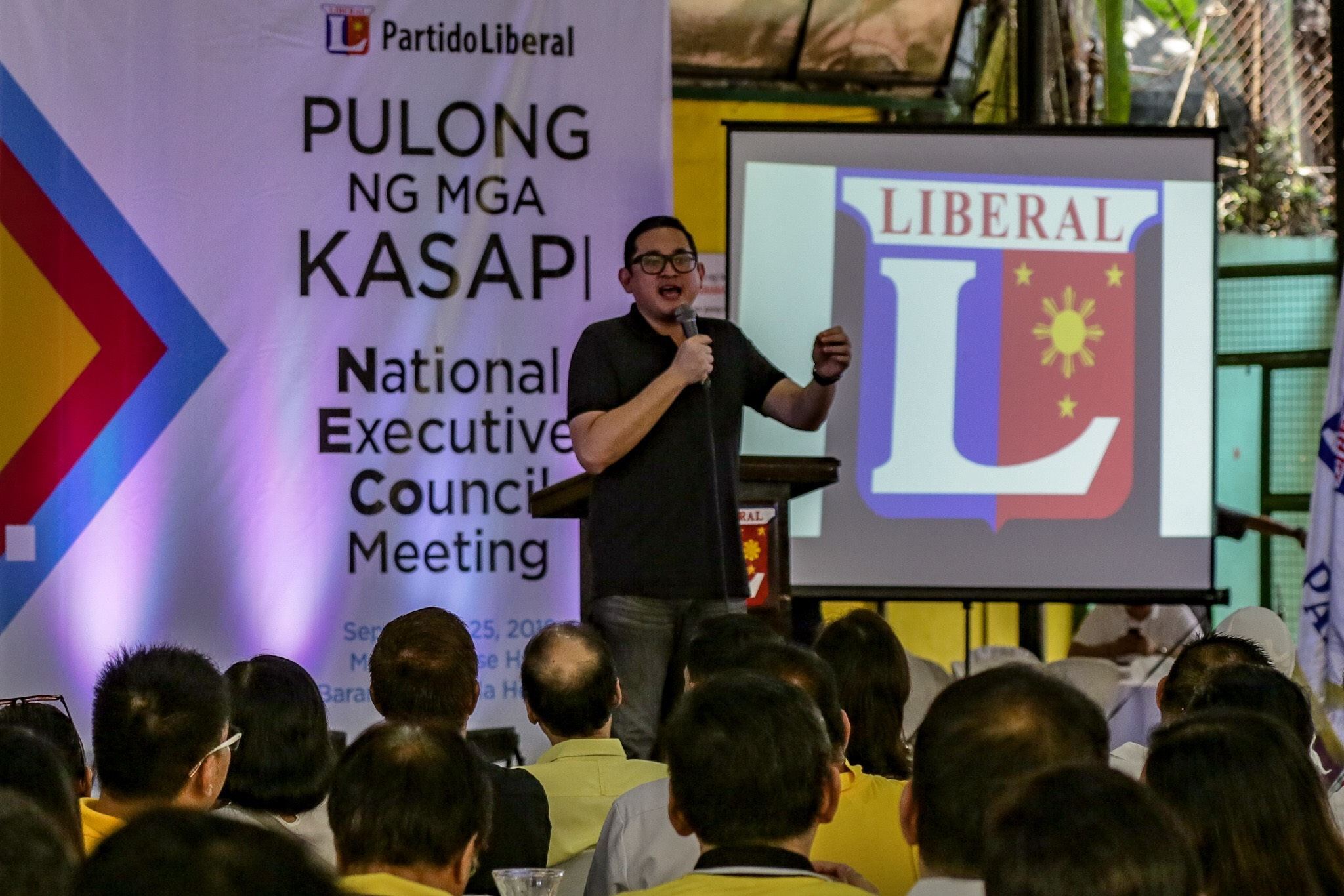 REELECTIONIST. Senator Bam Aquino delivers his speech during the NECO meeting. Photo by Maria Tan/Rappler