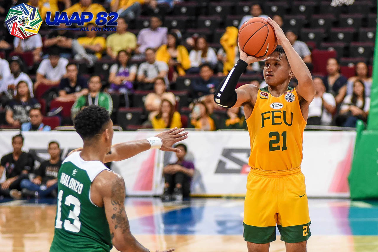 CRUNCH TIME. Wendell Comboy helps the Tamaraws keep the Archers at bay in the closing minutes. Photo release