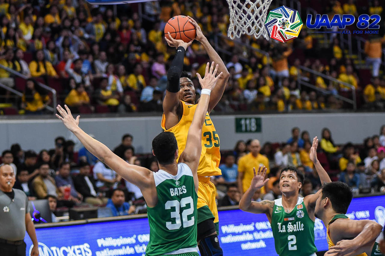 DOUBLE-DOUBLE. Patrick Tchuente props up the Tamaraws with 19 points and 11 rebounds. Photo release