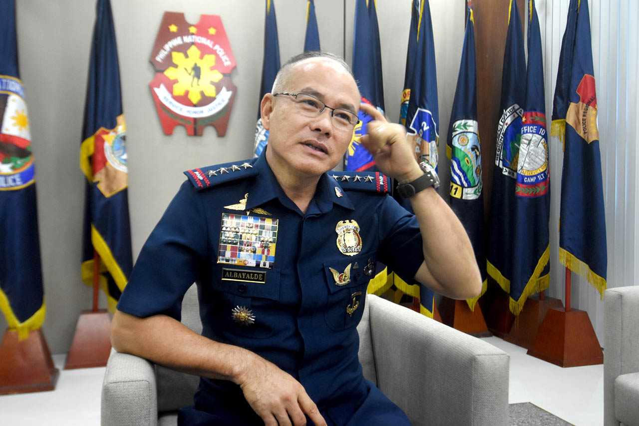 POLICIES TO FOLLOW. PNP chief Oscar Albayalde at his office in Camp Crame. File photo by Angie de Silva