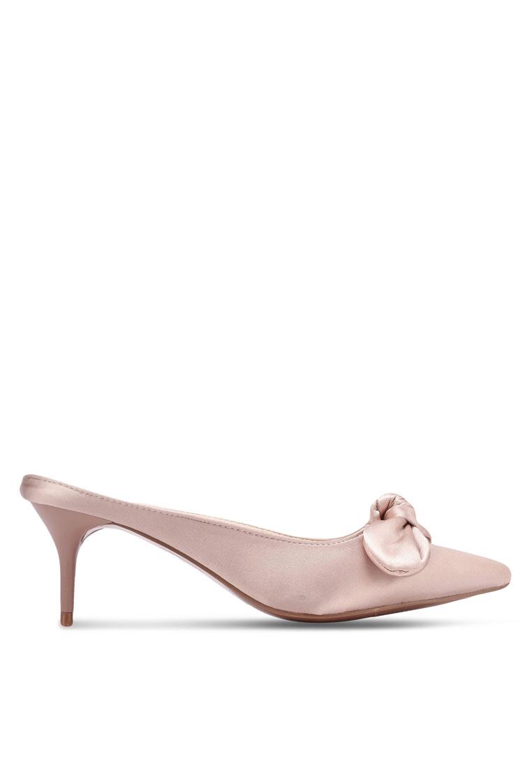 Velvet bow slip-on heels (P799) from Zalora.com.ph