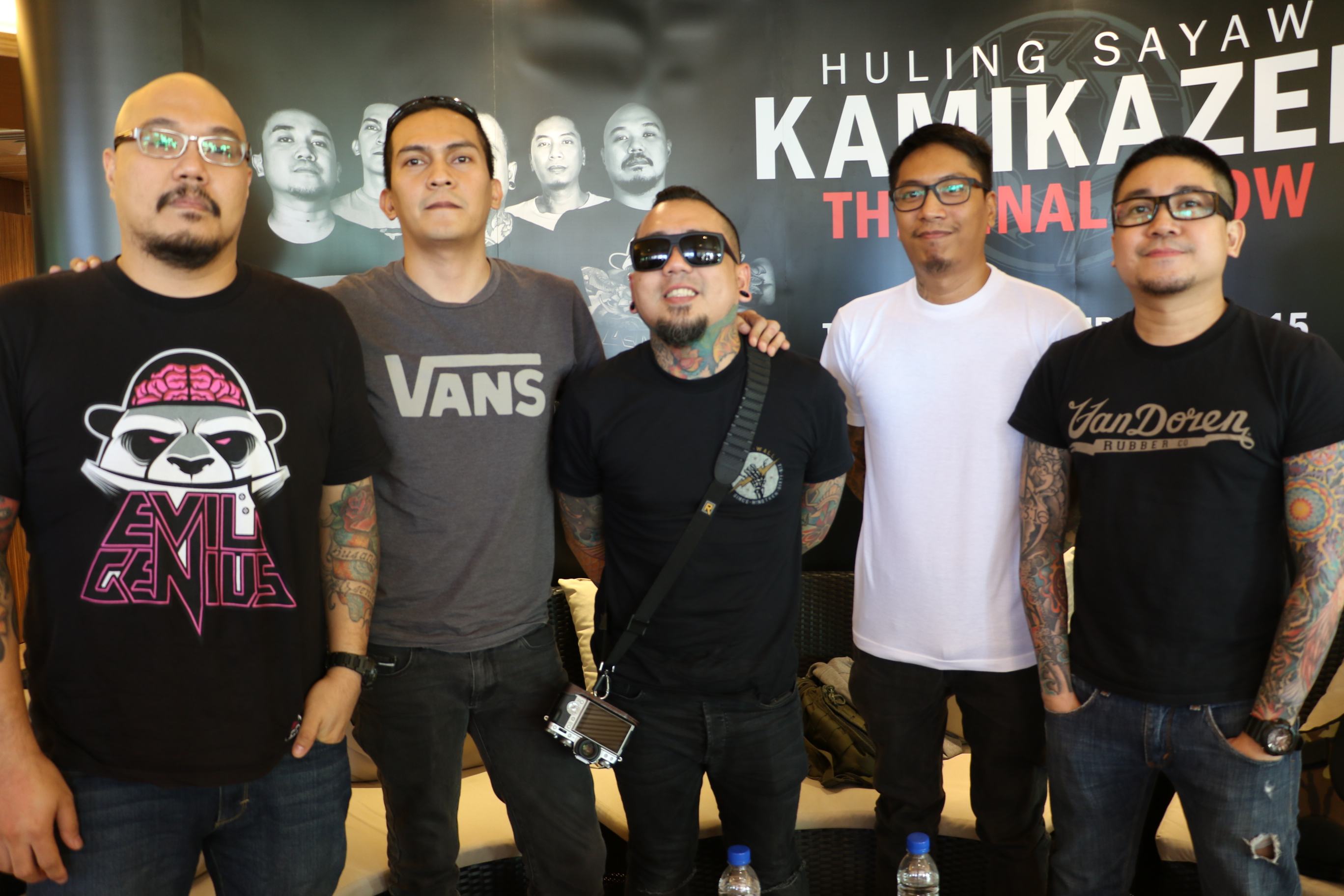 15 YEARS. Kamikazee at their interview with media. Photo by Sheen Seeckts