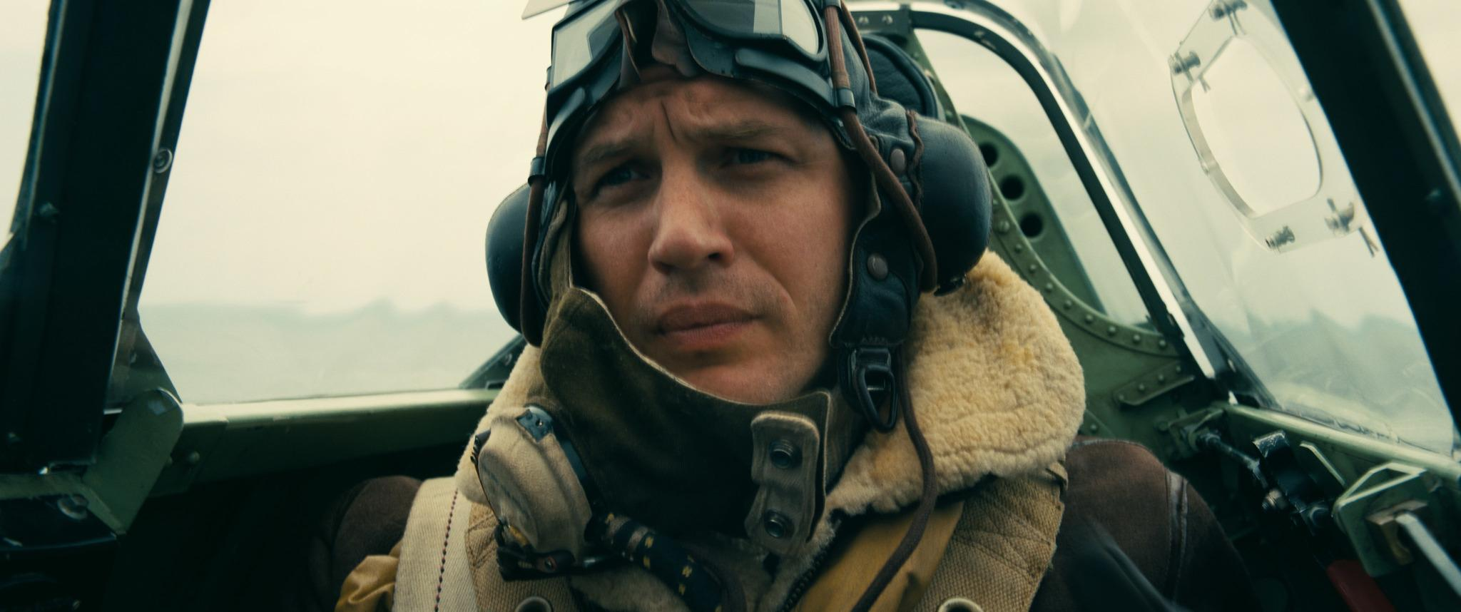 Tom Hardy plays a pilot in 'Dunkirk.' Photo courtesy of Warner Bros. Pictures