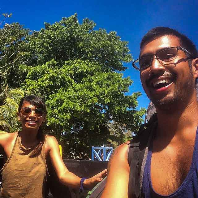 FIRSTS. Our first time hitchhiking together (Costa Rica)