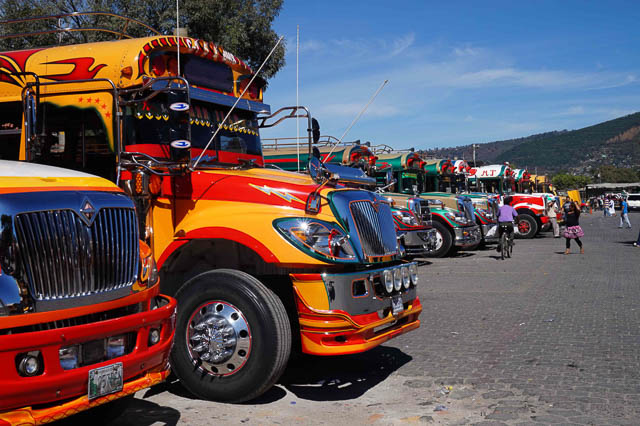 NEED A RIDE? Chicken buses, public transportation in Guatemala