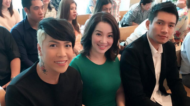 SUPPORT. Kris and ex-husband James Yap had a rocky relationship after their split, but are on better terms now. Kris Aquino smiles for the cameras with James and comedian Vice Ganda, during Kris and James' son Bimby's first communion. Screengrab from Instagram/kriscaquino