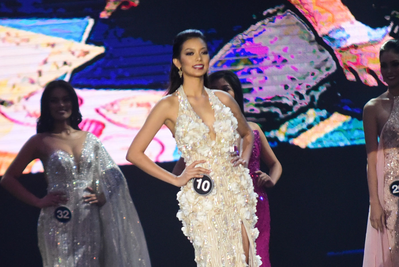 IMPROVEMENT. Jehza during the evening gown competition in 2017.