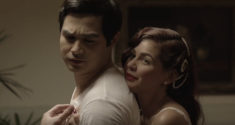 TOGETHER. A young Justo (Benjamin Alves) gets a hug from his wife Corazon (Janine Gutierrez).