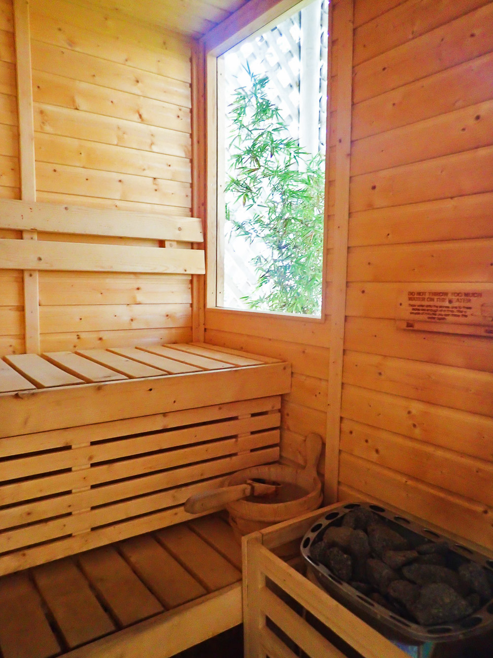 STEAM ROOM WITH A VIEW. Detox while enjoying the view.