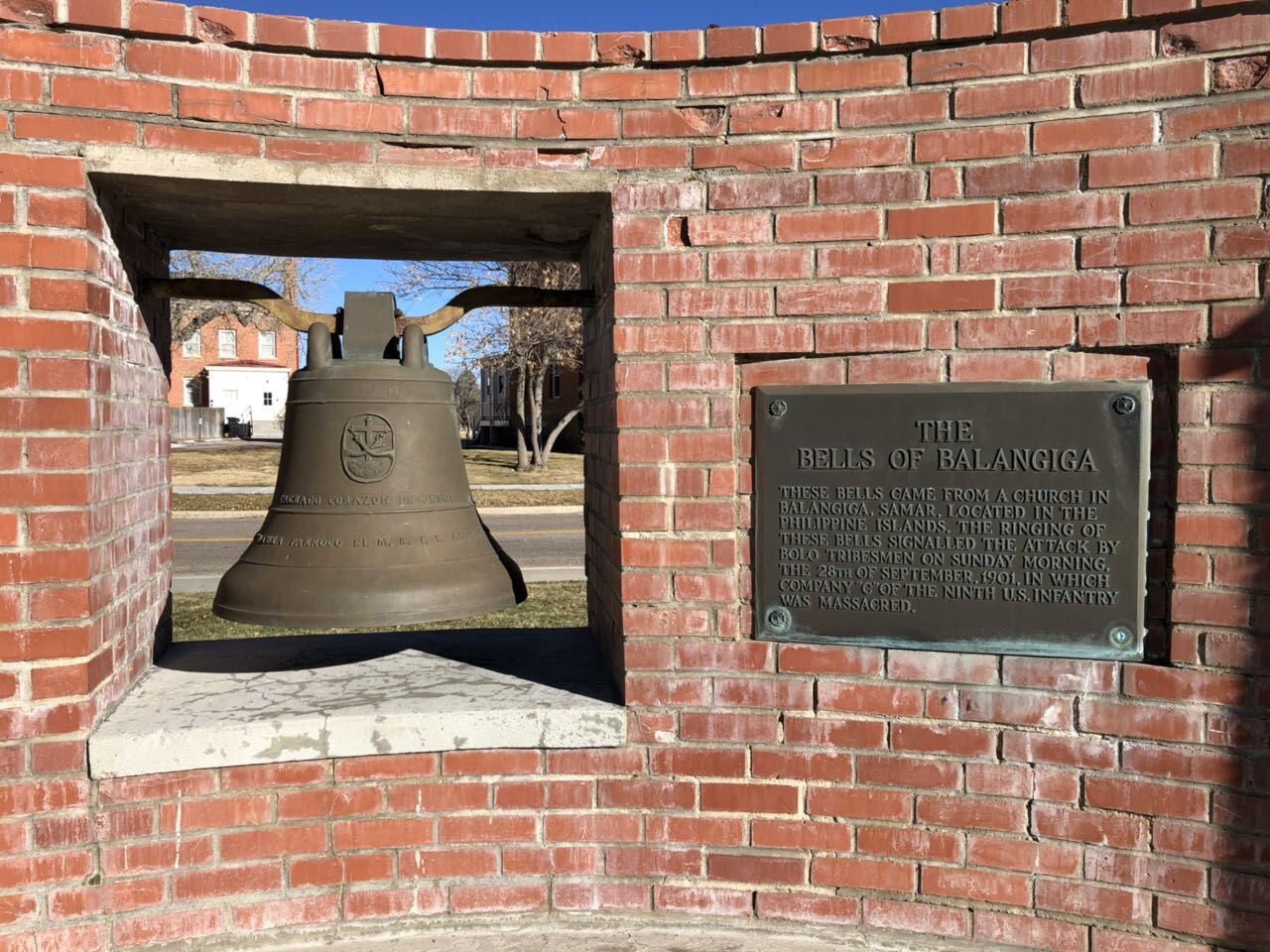 BACK SOON. The Balangiga Bells have been displayed in Wyoming after American troops brought these as spoils of war. Photo by Gunther Sales/Philippine embassy in Washington DC