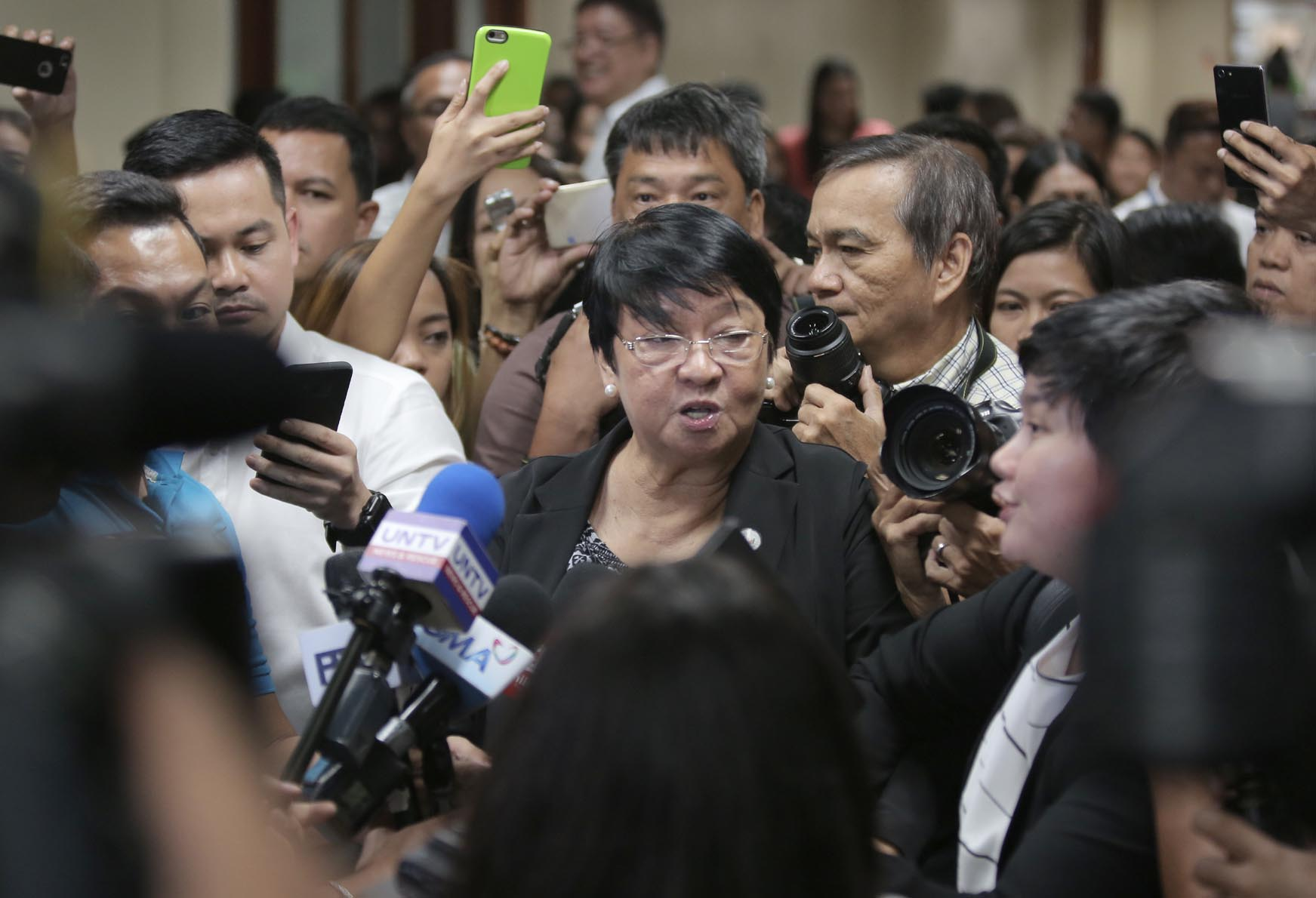 REJECTION. The Commission on Appointments reject the ad interim appointment of social welfare ecretary Judy Taguiwalo. Photo by Alex Nueva Espana/PRIB