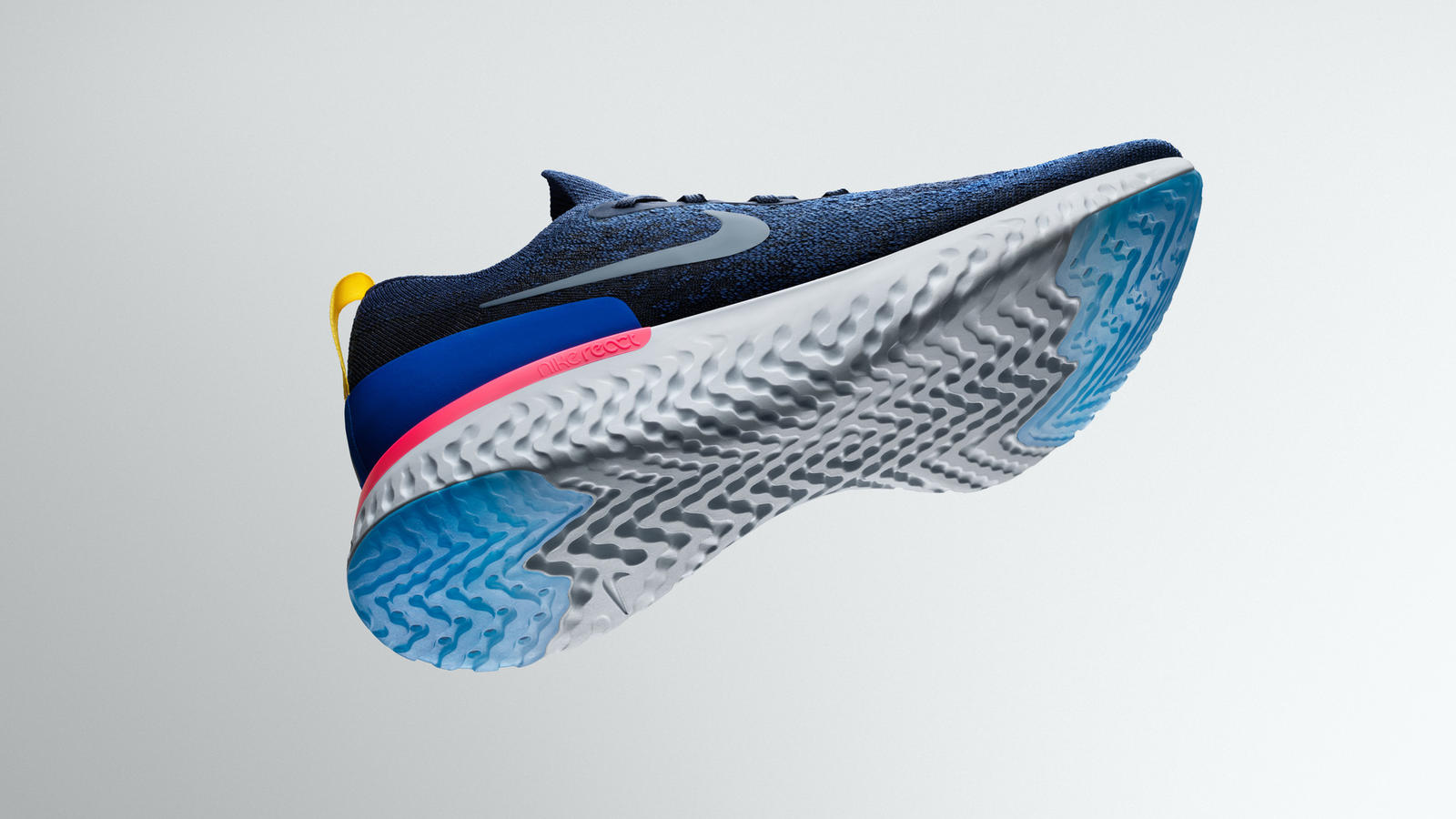 MADE FOR RUNNING. The shoe has two components: the React foam sole, and the one-piece flyknit bootie. Photo courtesy of Nike