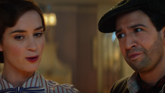 TEAM UP. Emily Blunt is joined by Lin-Manuel Miranda in the movie.